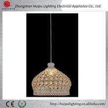 Modern fancy chandelier light lamp dining metal art crystal pendant lamp