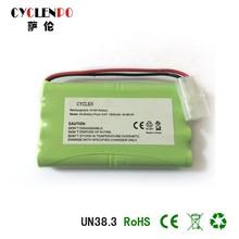 battery nimh 9.6v 1800mah rechargeable battery for e-bike/car battery /tablet pc battery