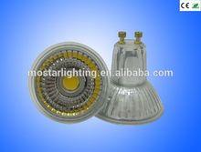 CE rohs TUV High Quality 5W 220v Warm White Light LED GU10 Spotlight Glass Shell patent product heat faster