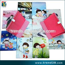professional manufacturer cute cartoon printing leather case for iPad Mini