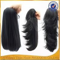 cheap high quality body wave brazilian natural human hair drawstring ponytail