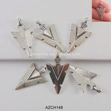 hot selling wholesale silver color zinc alloy arrowhead charm