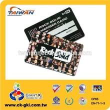 Customized black membership VIP plastic id pvc card
