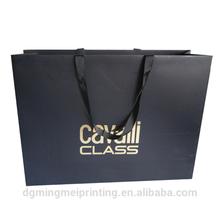Lux Metallic logo stamping shopping bag & Matt Laminated Customized paper gift bag
