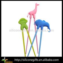 cute animal shaped beginner's silicone melamine chopstick