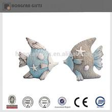 pretty resin fish figurine home ornament