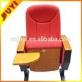 Jy-615m China de suministro de equipos originales ergonómico de acero la pierna cojín de espuma barato sala de conferencias silla plegable de madera con acolchado asiento