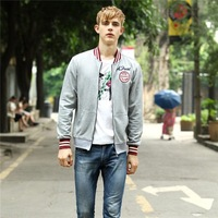 HFR-TM11 The new fashion collar men jacket Urban city boy jacket of cultivate one's morality Youth pop letters men jacket