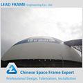 cúpula de espacio marco de estructura de acero prefabricados de galpones de almacenamiento