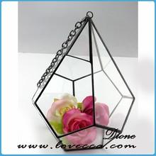 Beautiful Glass House for decoration , Various shape and size glass terrarium house ,High quality pretty geometric terrarium