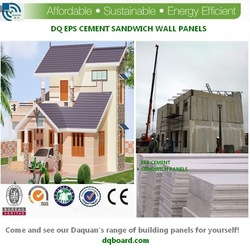 2015 Daquan Eps Insulated Soundproof Sandwich Panel for luxury prefab homes with sound insulation