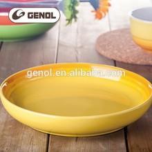 Newest factory supply cheap yellow ceramic plates baking dish