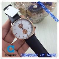 2015 ofcourse brand OEM new custom men gold case hand wrist quartz watch model