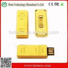 metal gold bar shaped usb flash drive, gold bar free logo metal mini pormo usb pen drivers, gold bar 1tb usb