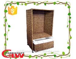 dog clothes closet, pet wardrobe, seagrass pet armoire basket