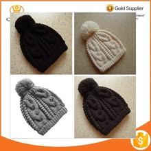 Women Men Hat cap Crochet Knit Oversized Baggy Ski Beanie Hats Wool + Cotton Hat