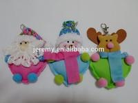 OEM Cute Cheap Handmade Christmas keychain felt Stuffed Toy