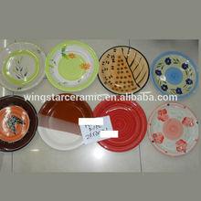 wholesale ceramic restaurant dinner plate stoneware handpainted 10.5',8',7' dinner plate