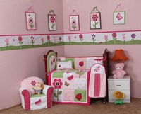 2015 new products new animal world nursery decoration crib bedding set baby beddings set babies cot beddings set