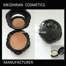 Fashion rose shape design cheek bronzer face powder with puff