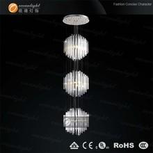 Contemporary Crystal Chandelier Rain Drop Lighting Crystal Ball Pendant Light OM9202
