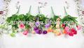 Sjf46 seda artificial rose bouquet de noiva, flor artificial rosa, mini buquê rosa flores