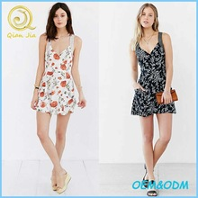 Women New Dress Short Floral Print Dress