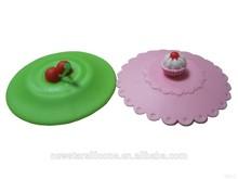 2015 China manufacture individual and fine silicone mug cups lid