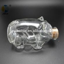 animal shaped bottle small decorative glass jar for gift wishing bottle