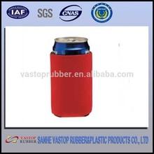 Printed neoprene portable beer can cooler bag