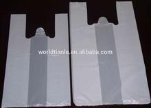 Cheap white plain t shirt bags popular in Africa