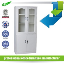 2 glass door filing storage high quality KD steel/metal office cabinet