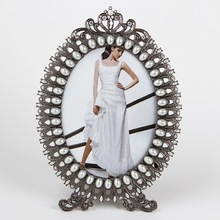 jewelled oval photo frame /free photo picture frame