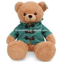 """Niuniudaddy Plush toy Teddy bear green dress Color Brown 27.5"""""""