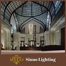 Church hotel crystal chandelier promotion lights