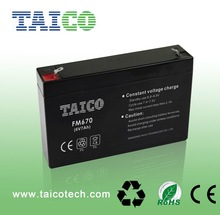 hot sale storage battery 6v 7ah maintenance free battery