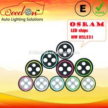 Qeedon E-mark DOT 7'' round OSRAM chips car beam light, car lights led for land rover defender