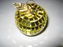 Apple shape Christmas mirror ball