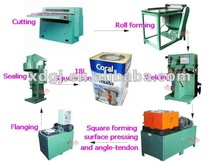 square tin can making line for oil /chemical drum