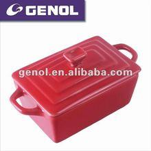 ceramic rectangular enamelware casserole