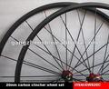 Negociáveis proflie de carbono rodado 20 milímetros clincher, roda de corrida, as peças da bicicleta