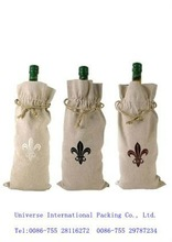 2012 linen wine bags by personalized with cheap price
