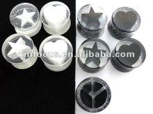 uv acrylic star ear plugs ear gauge Piercing Body Jewelry