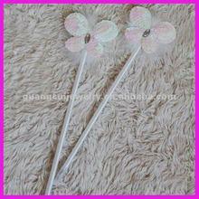 fashion plush butterfly wedding feather pen