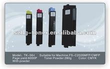Kyocera toner cartridge,TK500/501/502/503, refill toner, color toner