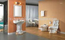Ceramic/Embossed Decorative Bathroom Set