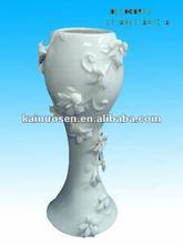 Decorative white big flower vase ceramic