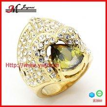 R3844 Jingmei Yellow Golden Jewel Diamond Solitaire Ring