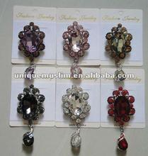 BR047 new design crystals brooch,fashion scarf pins