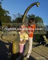 Estátua de madeira ao ar livre playground para as crianças brincam